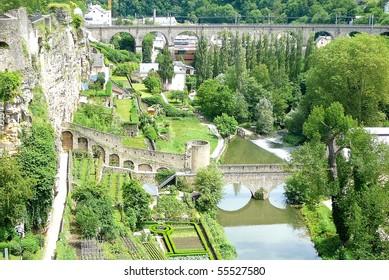 Luxembourg's Grund Valley