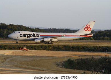 Luxemburg Airport, Luxemburg - 10.11.2009 : Boeing 747 from Cargolux airlines on a taxiway at Luxemburg Airport