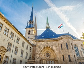 Luxemburg, Luxemburg - September 29, 2017: Notre Dame de Luxembourg is a Roman Catholic cathedral church in the southern part of Luxembourg.