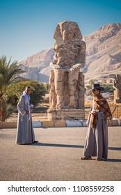 Luxor / Egypt: 09.01.2018 - Colossus of Memnon