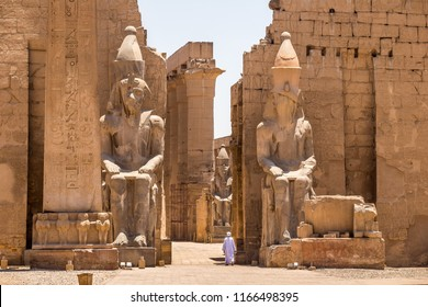 LUXOR, EGYPT - JUNE 14, 2014: Pharaoh Rameses II Statue in Luxor Temple, Egypt, Africa