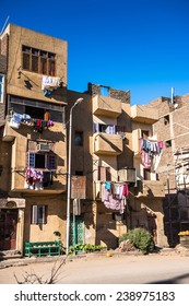 LUXOR, EGYPT - NOV 29, 2014: Architecture of  Luxor, Egypt. Luxor is a city in Upper Egypt and the capital of Luxor Governorate.