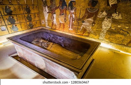 Luxor, Egypt, November 16, 2018: Tomb of Tutankhamun, Luxor, Egypt