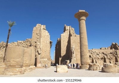 LUXOR, EGYPT-JUN 26:Temples of Karnak and Luxor were in ancient times part of the upper Egyptian city Thebes, which was over a long time the capital and the cultural center of the Pharaoh's empire.