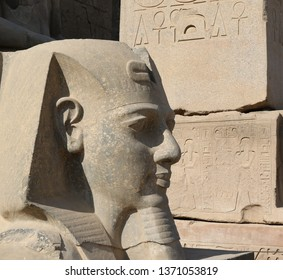 Luxor Temple - head of a Pharoah