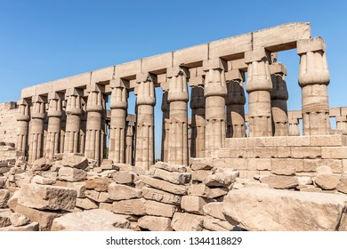 Luxor Temple, a large Ancient Egyptian temple complex located on the east bank of the Nile River in the city today known as Luxor (ancient Thebes).