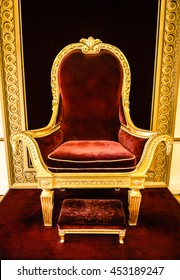 A luxurious and ancient throne for a King.