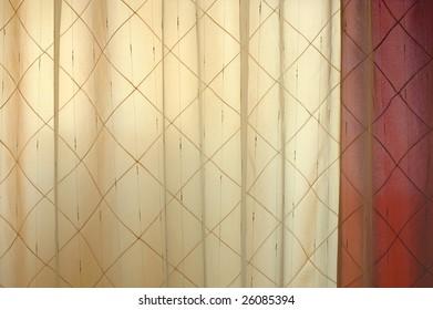 Luxurious background - stylish decorated cloth blinds.