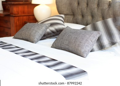 Luxurious bedroom close up