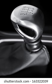 Luxurious car gearbox lever