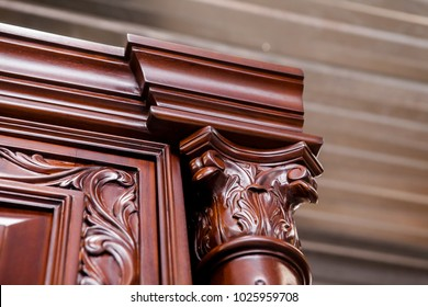 Luxurious classic handmade furniture.  Wood carving, handmade.