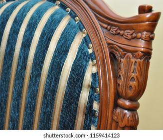 Luxurious classic handmade furniture. Wood carving, handmade.