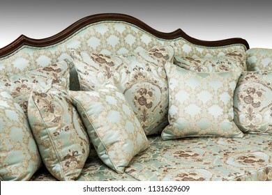 Luxurious classic handmade furniture.Barocco, rococo, vintage style.