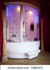 A luxurious design shower cabin.