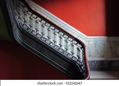 Luxurious Elegant English Antique Stairway