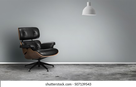Luxurious interior with armchair