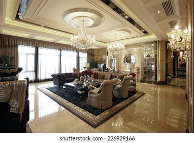 The luxurious interior design