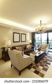 The luxurious interior design