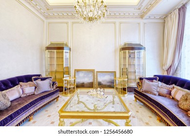 Luxurious interior of the house .