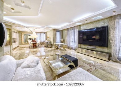 Luxurious interior. Living room interior in modern house.