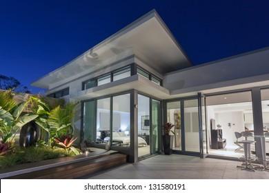 Luxurious penthouse at sunset