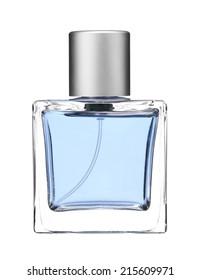Luxurious perfume. Feminine beauty concept / studio photography of perfume bottle - isolated on white background