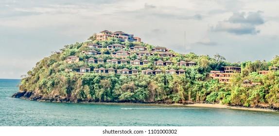 Luxurious resort village on a headland near Phuket, Thailand