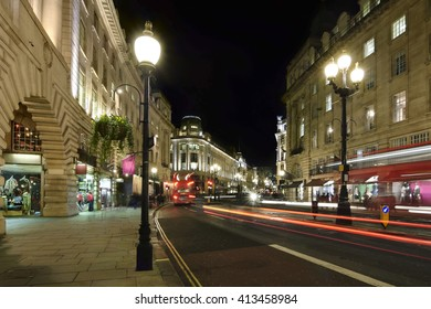 Luxurious retail stores at Regent Street in London