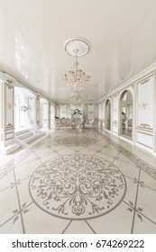 Luxurious vintage interior with mirror in the aristocratic style