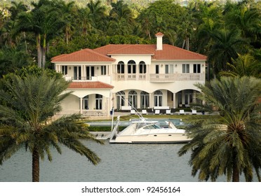Luxurious waterfront real estate in Miami, Florida