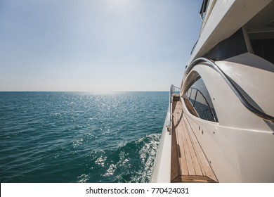 luxurious yacht motorboat in the sea, luxury private boat cruise