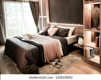 Luxuriously decorated bedrooms in the hotel.