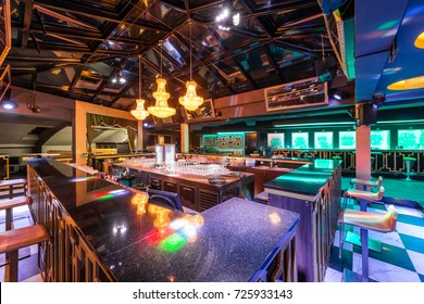 Luxuriously furnished interior of restaurant