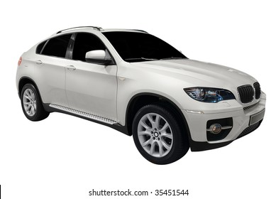 luxury 4x4 suv car isolated