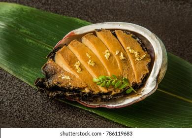 Luxury abalone dishes Japanese food