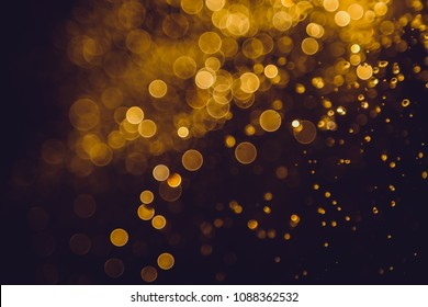 Luxury abstract golden bokeh use for background