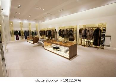 modern cloth shop interior photo stock photo edit now 7400182 rh shutterstock com designer cloth shops in mumbai cloth shop counter design