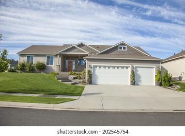 luxury American family house