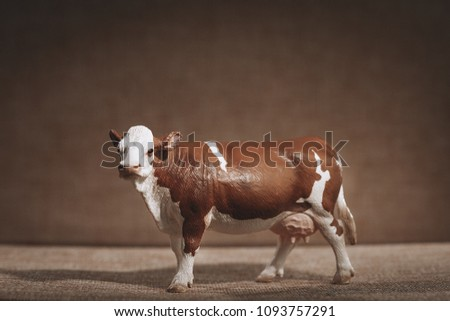 Luxury Baby Rubber White Brown Cow Stock Photo (Edit Now) 1093757291 ...