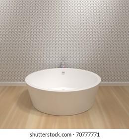 Luxury Bathroom - 3d illustration