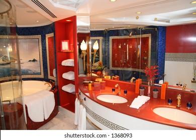 Luxury bathroom at hote