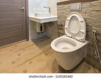 Luxury bathroom in luxury house, Interior Architecture