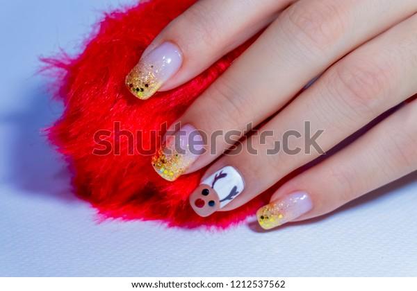 Luxury Beautiful Sparkling Gold Glitter Gel Stock Photo