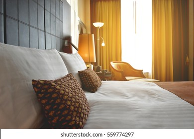 Luxury bedrooms with flare light
