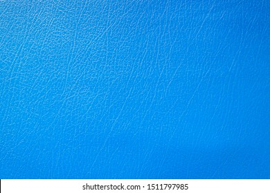 Luxury blue genuine leather texture close up, Cowhide background