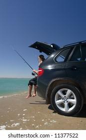 Luxury BMW Fishing