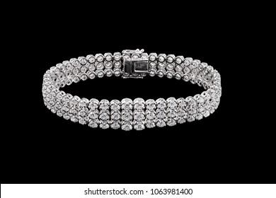 Luxury bracelet isolated black background