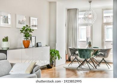 Luxury and bright living room interior design