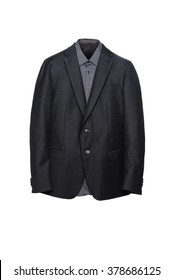 Luxury Business Black Suit with Grey Shirt inside , Men Accessories