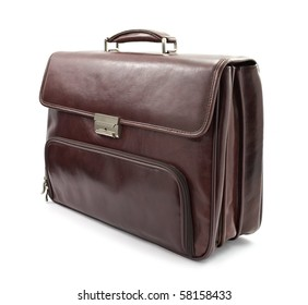 Luxury business brown briefcase